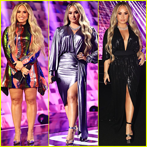 Demi Lovato Goes Back To Blonde To Host People's Choice Awards - See All Her Looks!