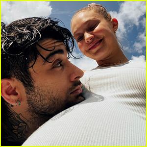 Zayn Malik Rests His Head on Gigi Hadid's Baby Bump in New Pregnancy Photos