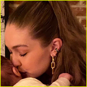 Gigi Hadid Gives Her Baby Girl a Kiss in New Thanksgiving Photo!