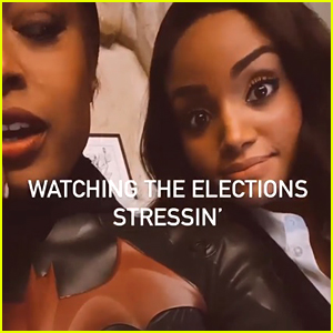 Javicia Leslie & Meagan Tandy Watched Election Night Coverage In Costume On 'Batwoman' Set
