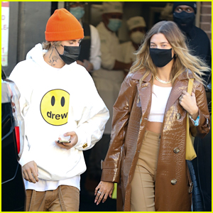 Justin Bieber & Wife Hailey Are Matching at Lunch!
