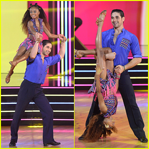 Skai Jackson Works It During Salsa On 'Dancing With The Stars' - Watch Now!