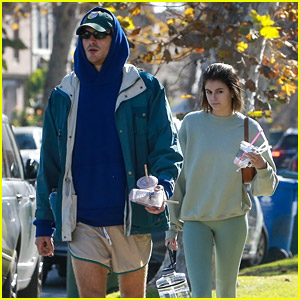 Kaia Gerber & Jacob Elordi Get In a Mid-Week Workout Together
