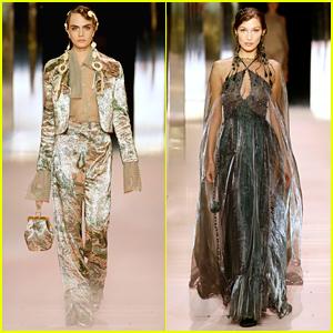 Cara Delevingne & Bella Hadid Hit The Runway For Fendi Paris Fashion Show
