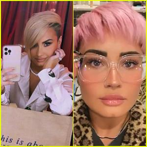 Demi Lovato Reveals Much Shorter Pink Hair!