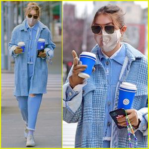 Gigi Hadid Picks Up Coffee to Go with Mom Yolanda in New York City
