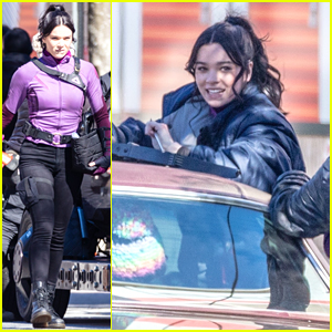 Hailee Steinfeld Continues Filming 'Hawkeye' Series With Co-Star Jeremy Renner - See The New Pics!