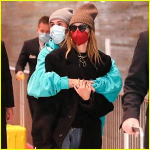 Justin Bieber & Wife Hailey Wrap Up Their Paris Trip & Head Home