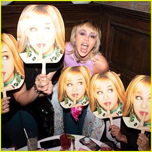 See How Miley Cyrus Celebrated Hannah Montana's 15th Anniversary! (Photos)