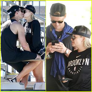 Alli Simpson Packs On The PDA With Boyfriend Mitchell Lambert