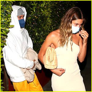 Hailey Bieber Glams Up While Justin Dresses Down for Dinner Date
