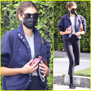 Kaia Gerber Hits Up Weekend Pilates Class In WeHo