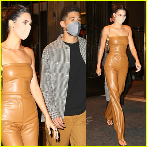 Kendall Jenner Rocks Leather Outfit for Date Night with Devin Booker