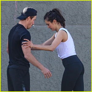 Nina Dobrev Kicks Off Weekend By Working Out with Shaun White
