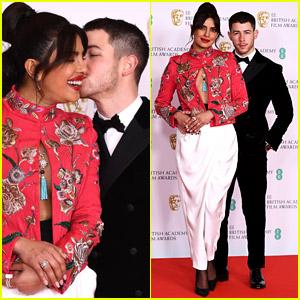 Nick Jonas Plants Kiss on Priyanka Chopra at 2021 BAFTAs!