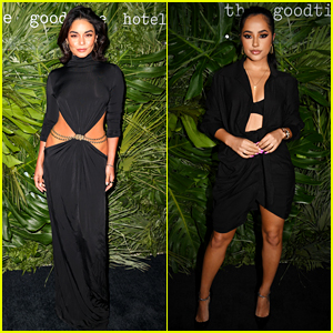 Vanessa Hudgens & Becky G Joined Lots of Celebs for the Goodtime Hotel Opening!