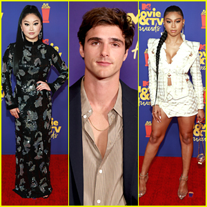 Netflix Stars Lana Condor, Sierra Capri & Jacob Elordi Hit Up MTV Movie & TV Awards 2021