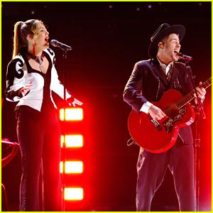 Nick Jonas Covers Foo Fighters' 'Best of You' With 'The Voice' Finalist Rachel Mac - Watch Now!