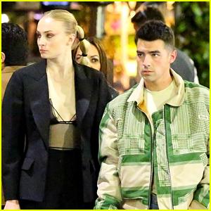 Joe Jonas & Sophie Turner Grab Italian Food for Romantic Date Night!