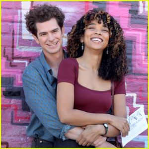 Andrew Garfield Wraps His Arms Around On-Screen Love Alexandra Shipp While Filming 'tick, tick...BOOM!'