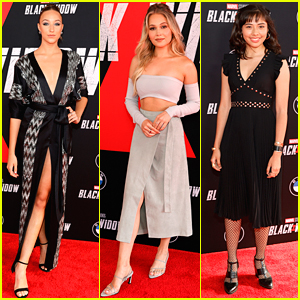 Ava Michelle & Kelli Berglund Join Young Marvel Stars at 'Black Widow' Premiere
