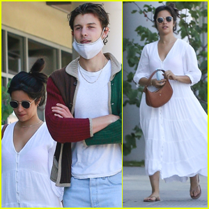 Camila Cabello Goes Cute in a White Dress While Out in WeHo with Shawn Mendes