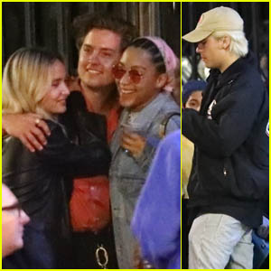 Cole & Dylan Sprouse Meet Up with Stella Maxwell, Charles Melton & Camila Mendes for Dinner in L.A.!