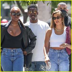 Hailey Bieber Grabs Lunch With Justine Skye After Celebrating The Night Before