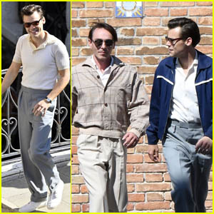 Harry Styles Joins David Dawson on the Set of 'My Policeman' in Venice!