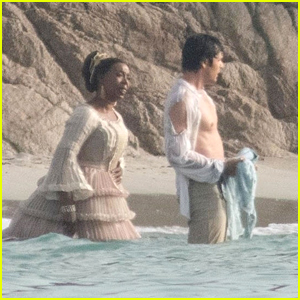 Jonah Hauer-King Spotted Filming 'The Little Mermaid' With Noma Dumezweni In New Set Photos