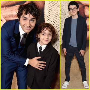 Alex Wolff Poses With His Younger Self Nolan River at 'Old' NYC Premiere