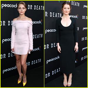 AnnaSophia Robb & Grace Gummer Attend LA Premiere of Their New Show 'Dr. Death'