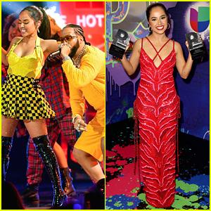Becky G Wins & Performs at Premios Juventud 2021