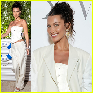 Bella Hadid Wears All White For Cannes Dinner After Confirming New Boyfriend