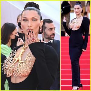 Bella Hadid Wears Revealing Dress To Cannes Film Festival 2021 Screening