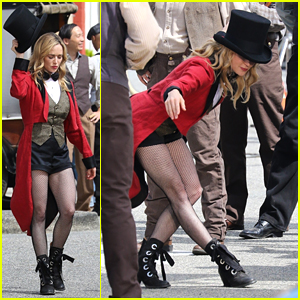 Caity Lotz Turns Into a Ringmaster On 'DC's Legends of Tomorrow' Set