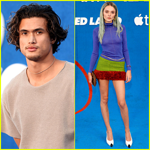 Charles Melton & Charlotte Lawrence Attend 'Ted Lasso' Season 2 Premiere