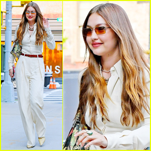 Gigi Hadid is All Smiles During Stylish Outing in NYC
