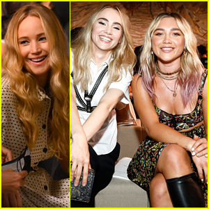 Jennifer Lawrence, Florence Pugh & More Sit Front Row at Christian Dior Fashion Show