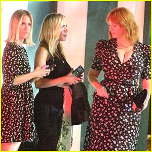 Kiernan Shipka Reunites With 'Mad Men' Mom January Jones at LA Dinner! (Photos)