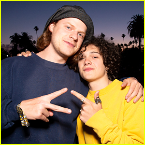 Lucas Hedges & Noah Jupe Have 'Honey Boy' Reunion at Cinespia Screening!