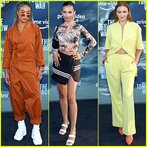 Tati Gabrielle, Kylie Cantrall & Chloe Lukasiak Bring Fun Fashion to 'Tomorrow War' Premiere