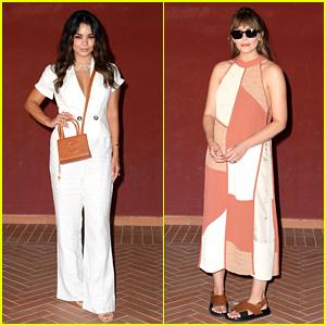 Vanessa Hudgens Looks Chic in White Pantsuit at Italian Film Festival with Elizabeth Olsen!