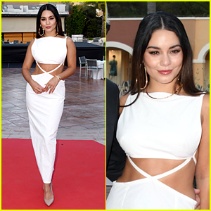 Vanessa Hudgens Is A Vision in White For Filming In Italy Festival Award Show