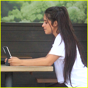 Camila Cabello Spotted on FaceTime Call on Her iPad During Family Lunch Outing