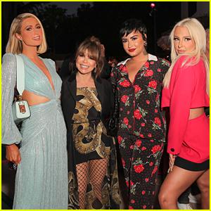 Demi Lovato & Tana Mongeau Attend Paris Hilton's 'Cooking With Paris' Screening!