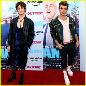 Fin Argus & Garrett Clayton Glam Up For 'Everybody's Talking About Jamie' Premiere