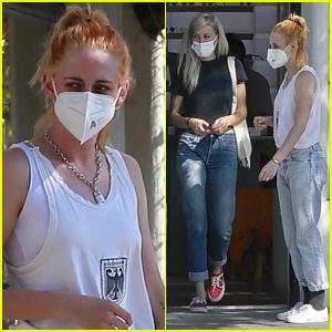 Kristen Stewart Debuts New Orange-Tinted Hair While Shopping with Girlfriend Dylan Meyer!