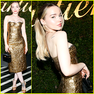 Dove Cameron Is the Golden Girl at Cartier Event