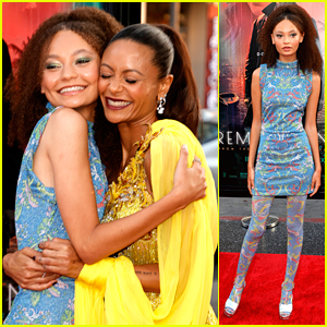 Nico Parker Joins Mom Thandiwe Newton at the Premiere of Their New Movie 'Reminiscence'
